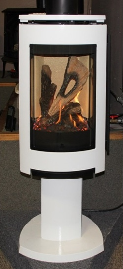 Buck Factory Outlet free-standing gas fireplace